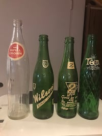 Old soda bottles