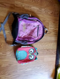 LLBean Backpack and Thirty One Insulated Lunch Bag