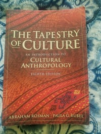 The tapestry of culture 8th Ed Rosman Ruble Fairfield, 94533
