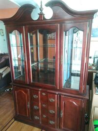 Dinning Set table six chairs China cabinet