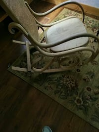 brown rattan rocking chair Napanee, K7R 3K8