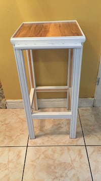 White wood plant stand