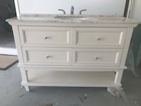 white wooden 3-drawer chest Palm Harbor, 34683