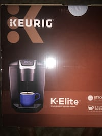black and gray Keurig Hot coffee maker box Sterling, 20152