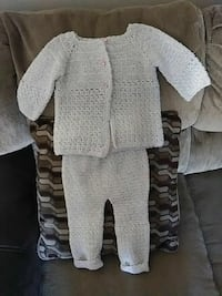 1-2 year old size crochet pants and sweater