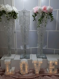 Crystal Hanging Centerpieces $95 each rental Vaughan