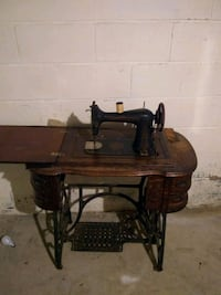 brown wooden treadle sewing machine Gaithersburg, 20877