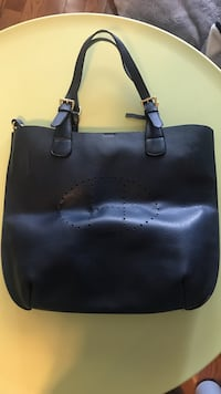 black leather tote bag Mississauga, L5W 1T7