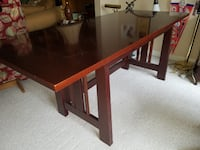 Cherry Wood Desk and Credenza ROCKVILLE