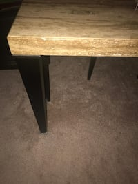 Modern-Contemporary Raw Granite Dining Table w/ 4 Chairs WASHINGTON