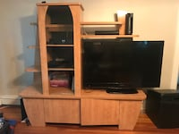 2 piece entertainment center  null