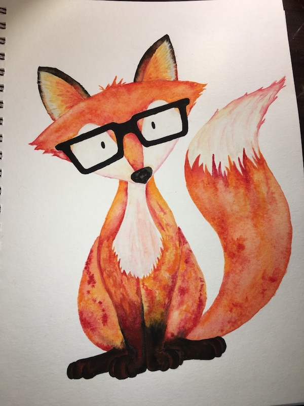 Fox painting available on mugs, coasters, bookmarks and cellphone cases!