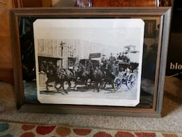 """30x21""""Beautiful wood framed man cave picture"""