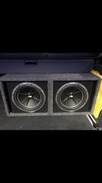 "Two 10"" kickers Comp, & box. Glendale, 91206"