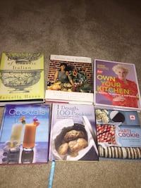 Six assorted cook books Massillon, 44646