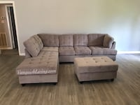 Large Grey Sectional Sofa Couch With Storage Ottoman-BRAND NEW IN BOX Houston, 77034