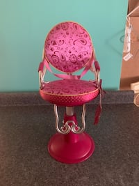 "Our generation sitting pretty salon chair for an 18"" doll"