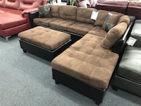 Reversible Sectional + Chaise + Ottoman Union, 07083
