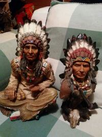 two brown and red ceramic figurines Kodak, 37764