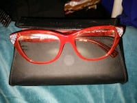 red framed wayfarer style sunglasses Atlanta, 30318