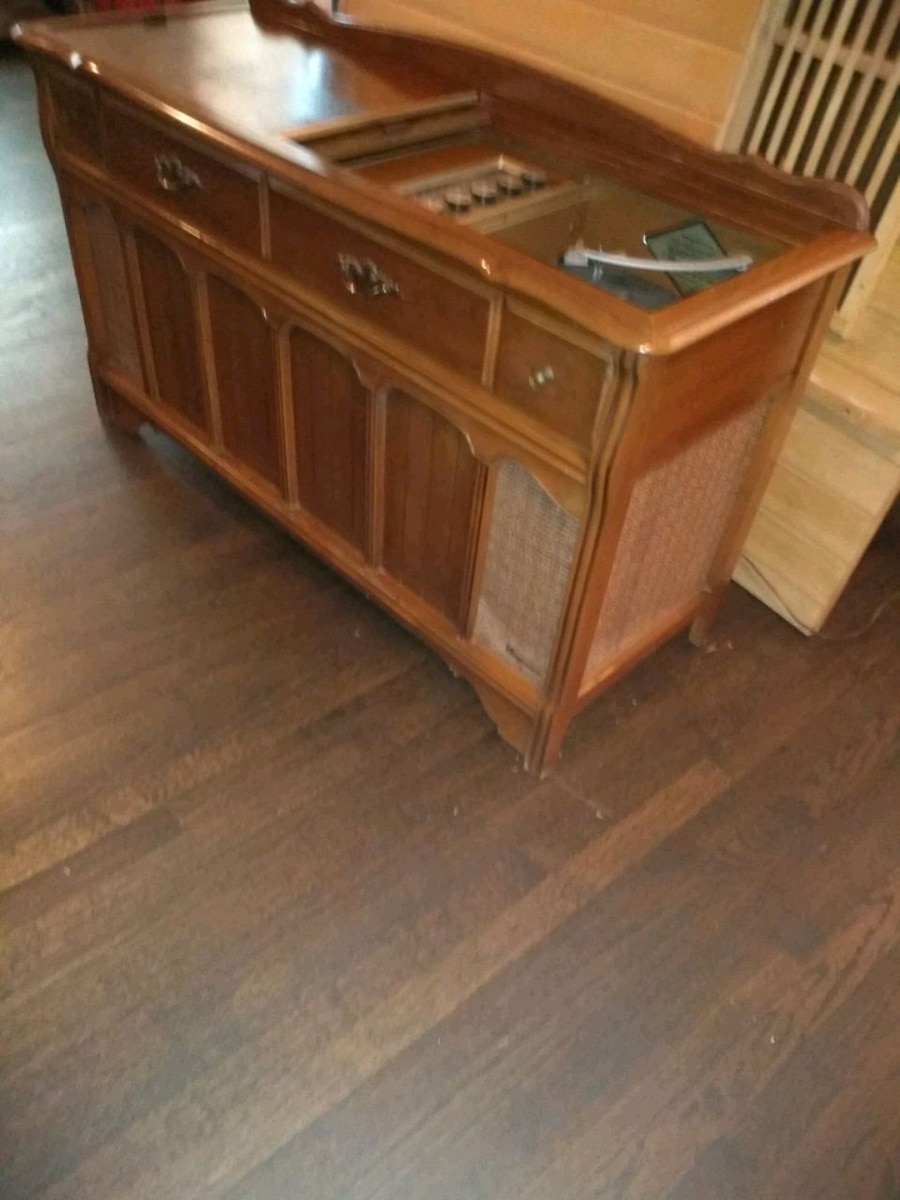 Vintage record player console