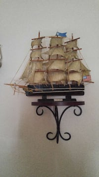 Wooden ships with shelves