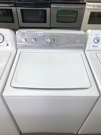 like new silver face washer Maytag with stainless steel drum