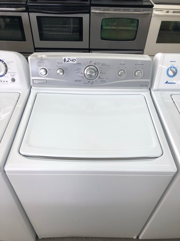 like new silver face washer Maytag with stainless steel drum 9a5714ff-4b6a-4cbc-aef0-36f5264d681f