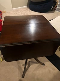Antique Solid Wood Duncan Phyfe Table Drop Leaf Table claw foot 1 km