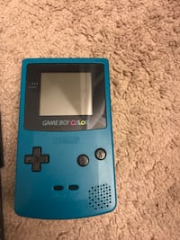 Teal game boy color and 20 games lot Chantilly, 20151