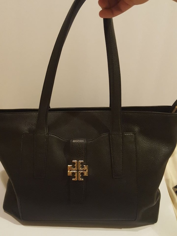 Used women s black Tory Burch leather tote bag for sale in Apple Valley 41647a2012