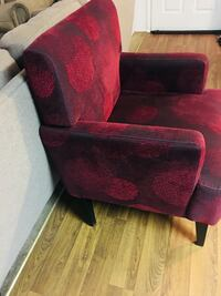 Red and black fabric sofa chair Stockton, 95210
