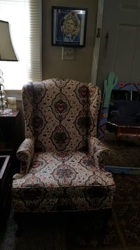gray and red padded armchair Bartlett, 38134