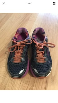 Brooks Adrenaline GTS 15 Running Training Women Size 8 - Purple Orange Chicago, 60609