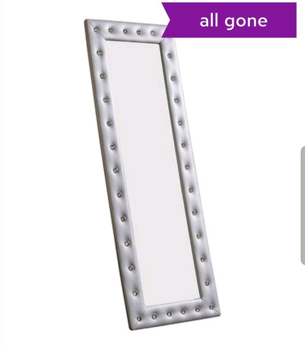 ** BRAND NEW IN BOX , NEVER OPENED **  SILVER FLOOR LENGTH MIRROR  0cb0752b-17c2-44e7-a82d-9d704a863f82