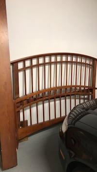 brown wooden bed frame with white mattress Washington, 20024