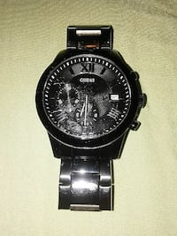 round black chronograph watch with black link bracelet Orlando, 32836