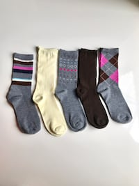 Striped and Argyle 5 Pair Pack Ladies Socks New York, 10029