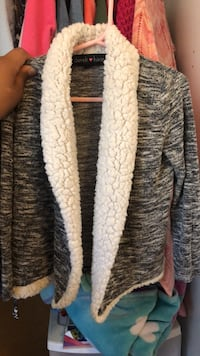 gray and white striped cardigan Fullerton, 92833