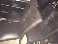 Brown leather dining room chairs 1955 mi