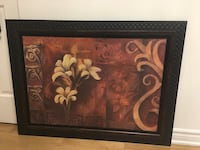 brown wooden framed painting of white petaled flowers Montréal, H4M 2N2