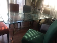 rectangular glass top table with four chairs dining set Vallejo, 94591