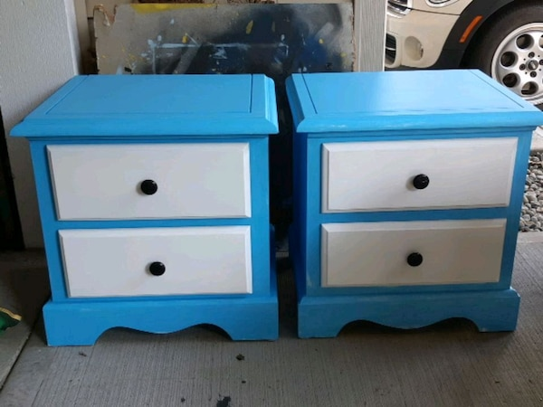 Two bed side tables 18 d x22 w 23 h