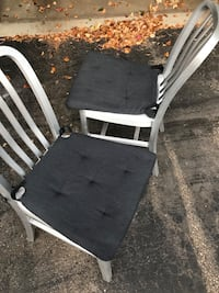 2 Crate & Barrel Metal Dining Chairs