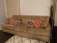 brown fabric 3-seat sofa Foster City, 94404