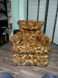 brown and white floral sofa chair Port St. Lucie, 34983