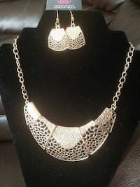 silver-colored necklace with earrings set Rocky Mount, 27801