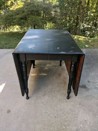 Vintage Black Drop leaf dining table Warrior, 35180