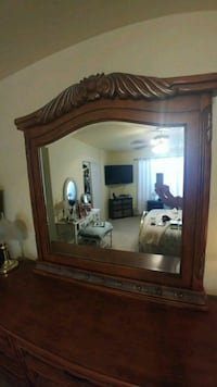 brown wooden dresser with mirror San Tan Valley, 85143