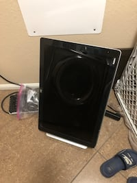 black and gray subwoofer speaker 2056 mi